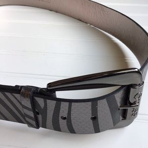 Guess Leather Metallic Belt